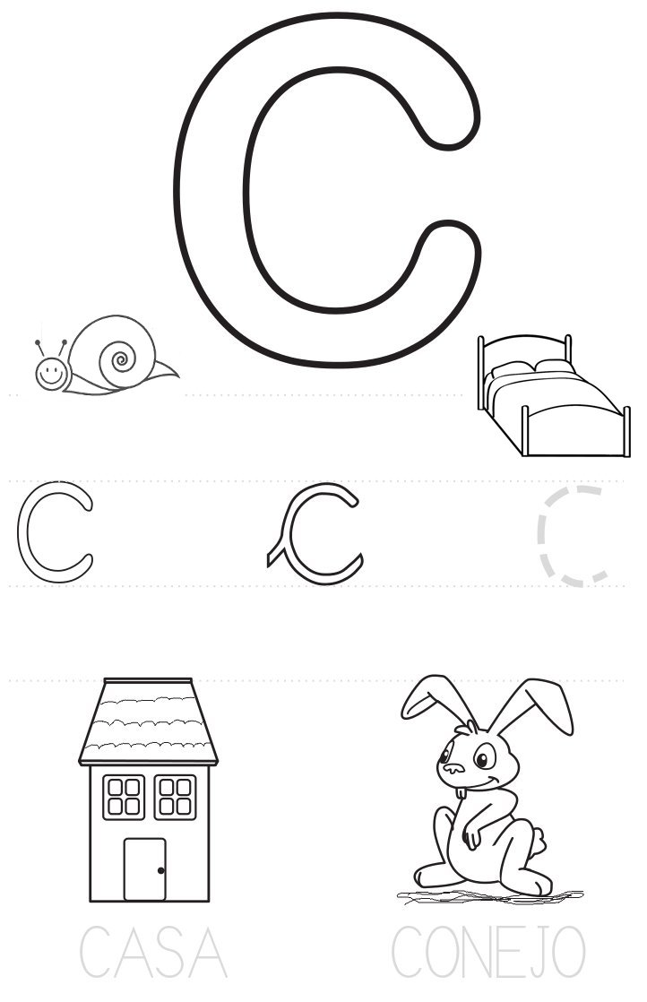Abecedario para colorear (actividades para primaria-4) (worksheet ...